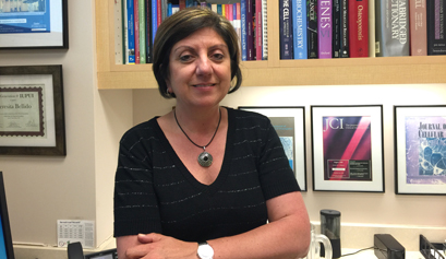 Dr. Teresita Bellido, professor of anatomy and cell biology and adjunct professor of medicine at the IU School of Medicine