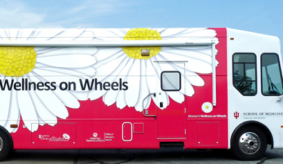 IUSM's Women's Wellness on Wheels bus