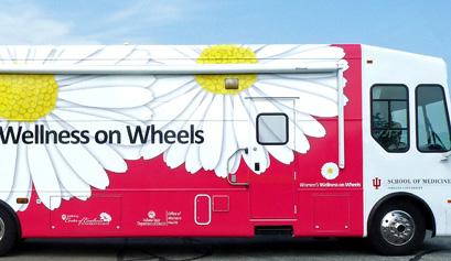 IUSM's Women's Wellness on Wheels bus