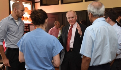 Dean Hess celebrates two years of service at the IU School of Medicine