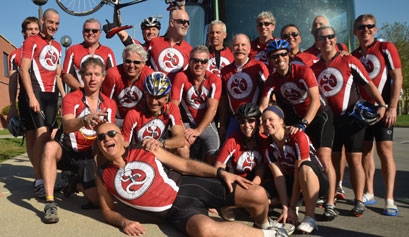 Miles for Myeloma biking group picture