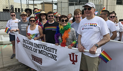 Dean Hess and Indy Pride parade participants